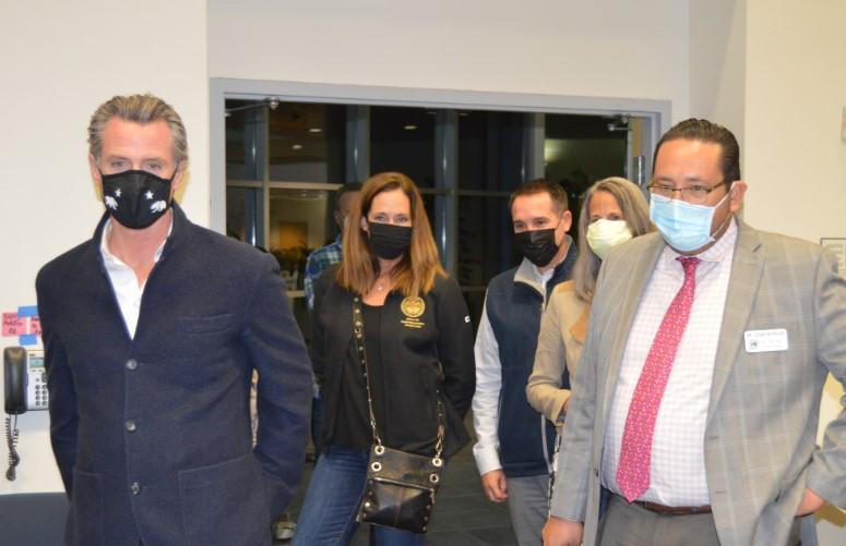 Governor Newsom Visits VCOE Vaccination Site