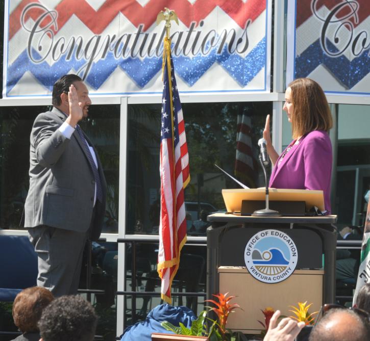 Dr. César Morales Sworn-In as Ventura County Superintendent of Schools