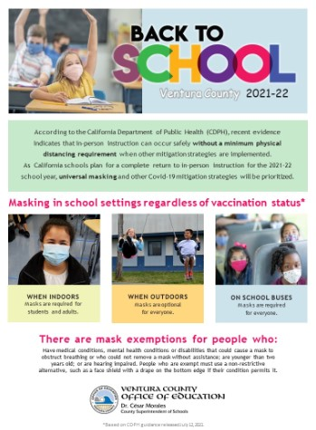 Mask Guidance for the 2021-22 School Year