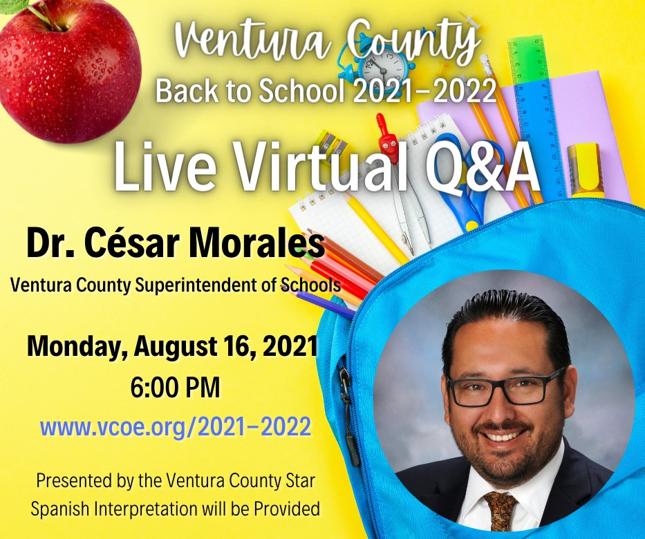 Live Back to School Q&A on Monday, August 16 at 6:00 PM