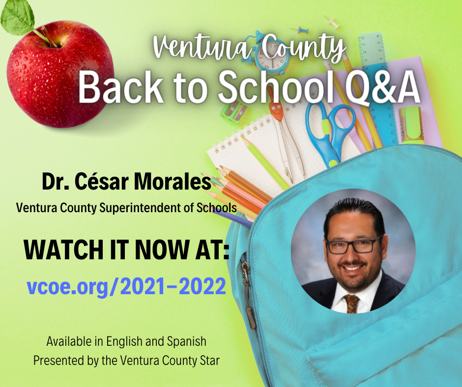 Watch the Back to School Video Q&A with Ventura County's Superintendent of Schools