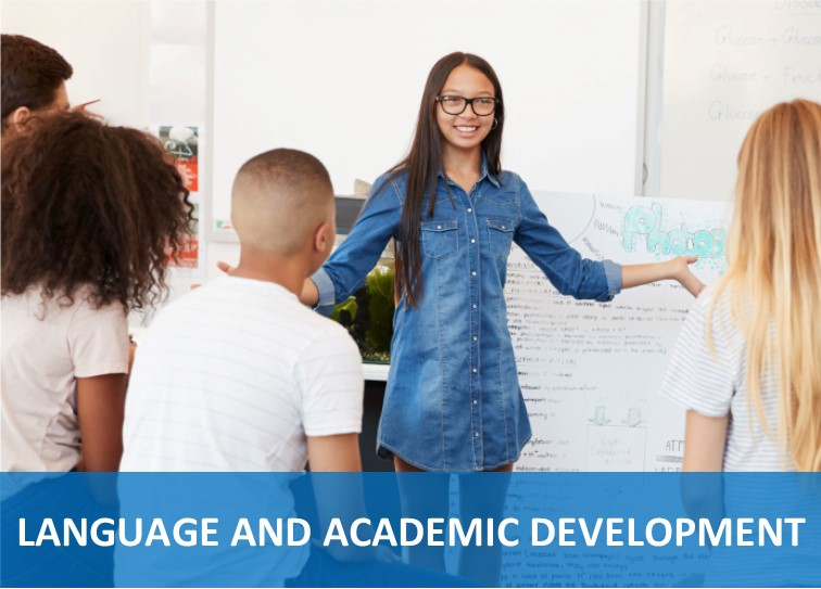 Language and Academic Development Button